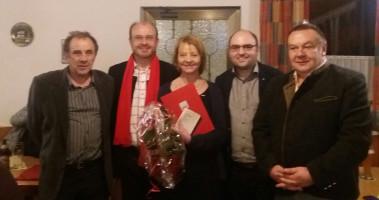 von links, Kurt Hammer, Dr. Ralf Pohl, Eveline Zeis, Sebastian Müller, Dieter Leicht