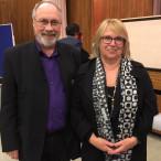 Angelika Graf und Bertram Hacker bei der Gerechtigkeitskonferenz